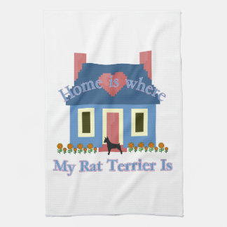 Home Is Rat Terrier Kitchen Towel
