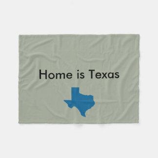 Home is Texas Blanket