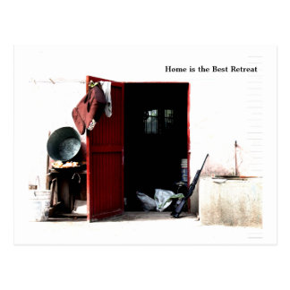 Home is the Best retreat Postcard