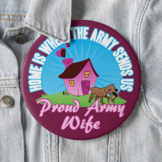 Home Is Where... 6 Inch Round Button