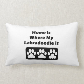 Home is Where My Labradoodle is Pillows