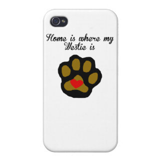 Home Is Where My Westie Is Cover For iPhone 4