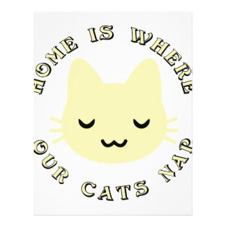 HOME IS WHERE OUR CATS NAP LETTERHEAD TEMPLATE