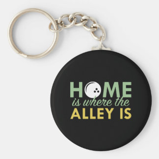 Home Is Where The Alley Is Keychain