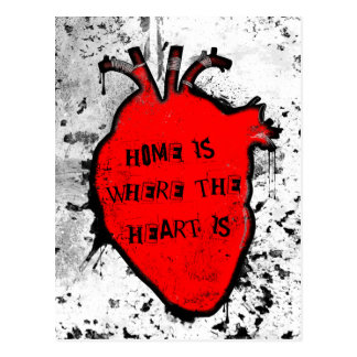 home is where the anatomical heart is postcard