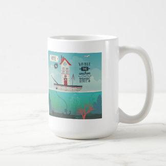 Home Is Where The Anchor Drops Coffee Mug