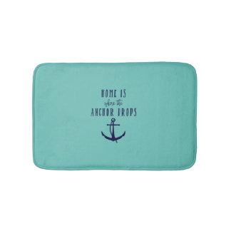 Home is where the Anchor Drops Shower/Bath Mat Bathroom Mat