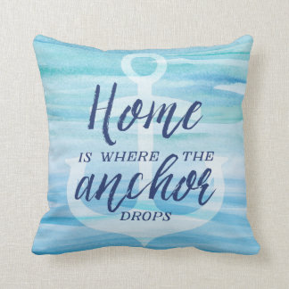 Home is Where the Anchor Drops Throw Pillow