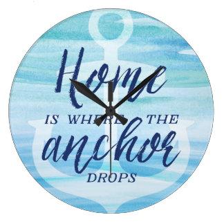 Home is Where the Anchor Drops Wallclocks