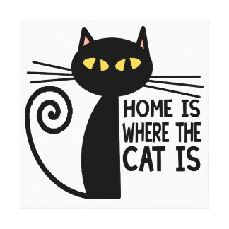 Home Is Where The Cat Is Gallery Wrapped Canvas