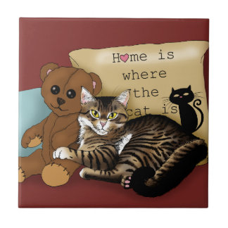 Home is Where the Cat is... Ceramic Tiles