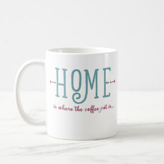 Home is where the coffee pot is mug