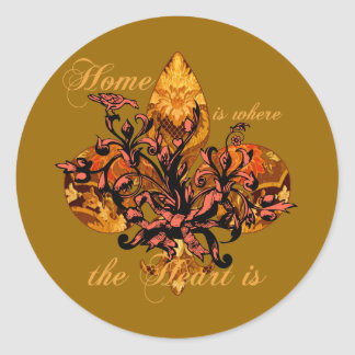 Home is Where the Heart Is Classic Round Sticker