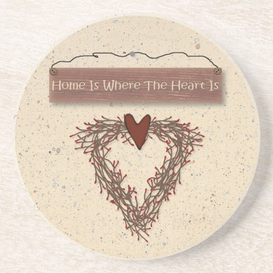 Home Is Where The Heart Is Coaster