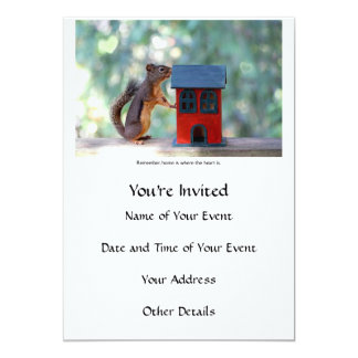 Home is Where the Heart Is Squirrel Card