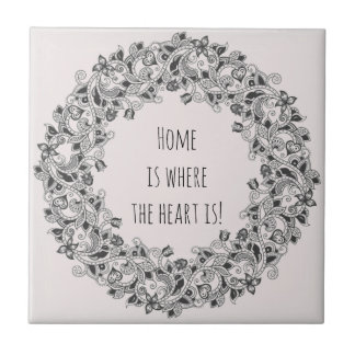 """Home is where the heart is"" unique new-home gift Tile"