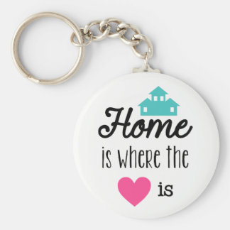 Home is where the heart is word art key chain