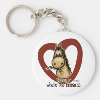 Home is where the Horse is Basic Round Button Keychain