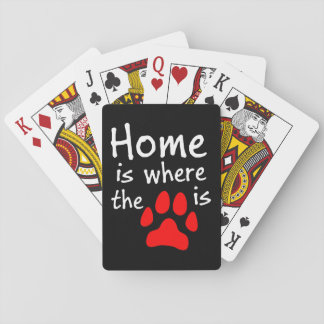 Home is where the paw print is playing cards