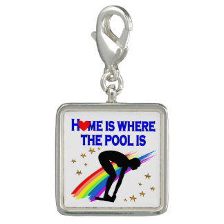 HOME IS WHERE THE POOL IS FOR THIS SWIMMER CHARM