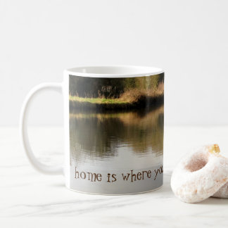 Home is Where You Moor It Narrowboat Canal Mug