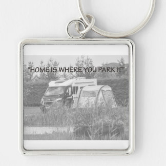 """""""Home is where you park it"""" key chain"""