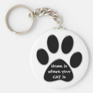Home is where your CAT is Key Ring