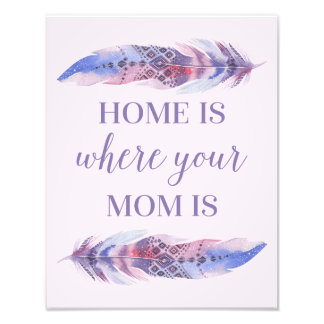 Home Is Where Your Mom Is | Photo Print