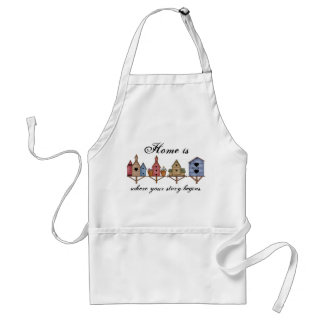 Home Is Where Your Story Begins Birdhouse Standard Apron