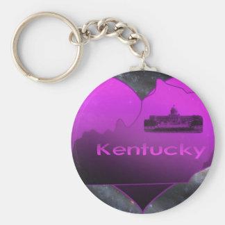 Home Kentucky Basic Round Button Keychain