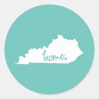 Home Kentucky Custom Color Classic Round Sticker