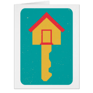 home key greeting cards