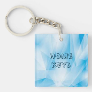 Home Keys key chain on icy blue background