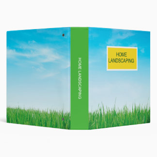 Home Landscaping Binder
