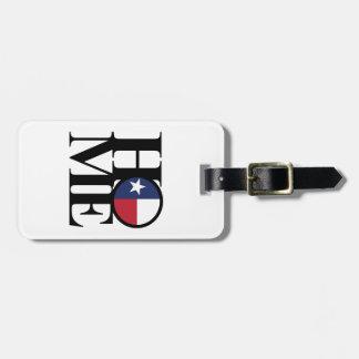 HOME & LOVE Texas Luggage Tag