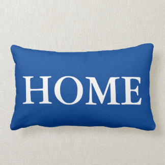 Home love text customizable background colour lumbar pillow