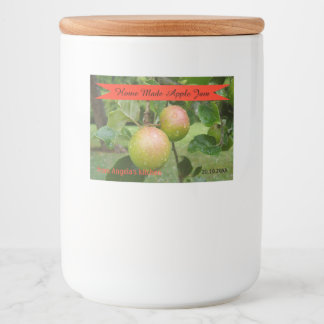 Home Made Apple Jam Container Label