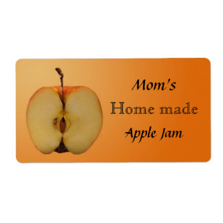Home Made Apple Jam Jar Label