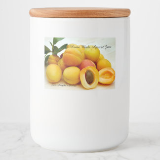 Home Made Apricot Jam Container Label