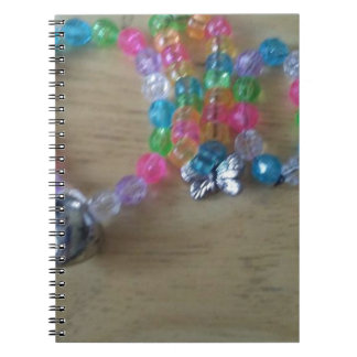 home made beaded braclets notebook