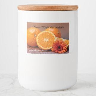 Home Made Marmalade Jam Container Label
