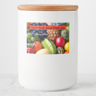 Home Made Mixed Fruits Jam Container Label