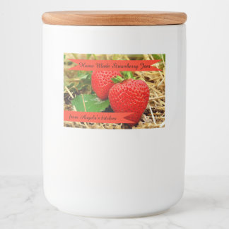Home Made Strawberry Jam Container Label