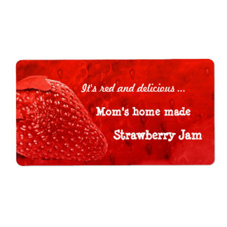 Home Made Strawberry Jam Label Shipping Label