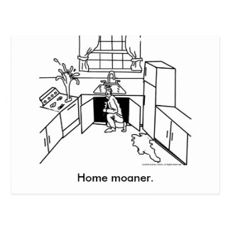 Home-Moanership, Home moaner. Postcard