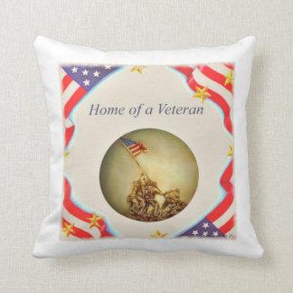 """Home of a Veteran"" Throw Pillow"