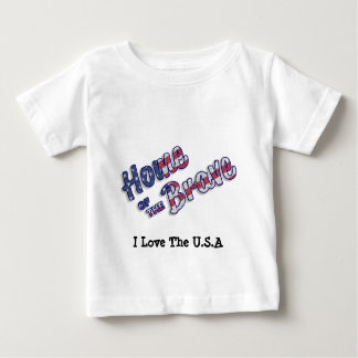 Home of the brave in american colors. baby T-Shirt