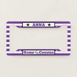 Home of the Coyotes Striped License Plate Frame