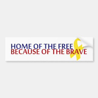 Home of the Free Bumper Sticker