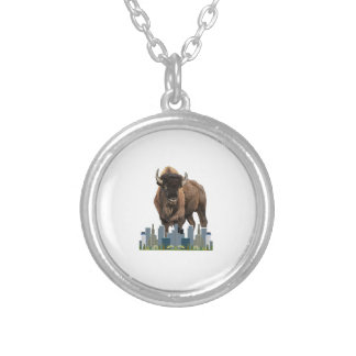 Home of the Free Silver Plated Necklace